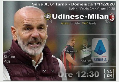 Serie A, Udinese-Milan (ANSA)