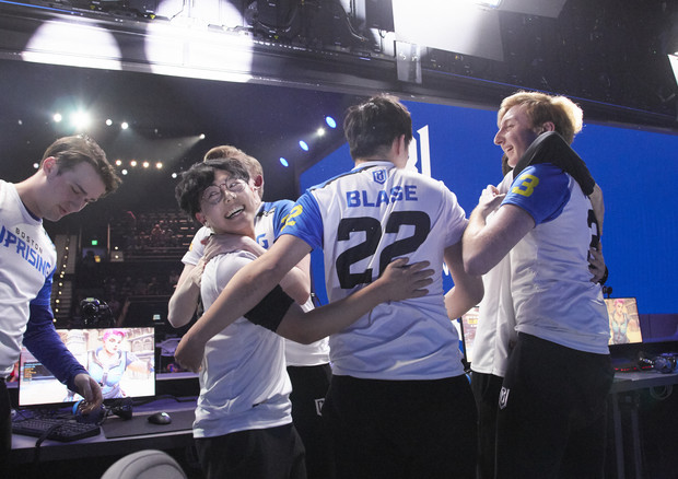 L'esultanza dei Boston Uprising all'OWL 2019